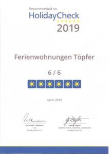 Ferienwohnung Töpfer in Arnstadt - Holiday check Bewertung