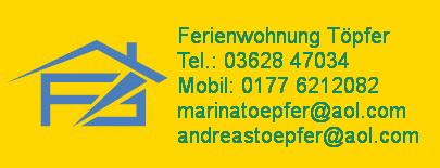 Ferienwohnungen in Arnstadt - Frau Töpfer heisst Sie herzlich willkommen !